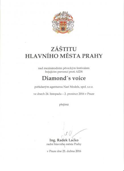 Záštita hl.m. Praha - Diamonds Voice 2016