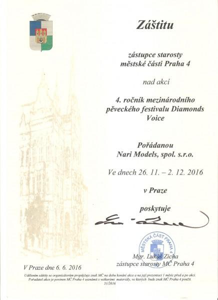 záštita Prahy 4 D,V.2016
