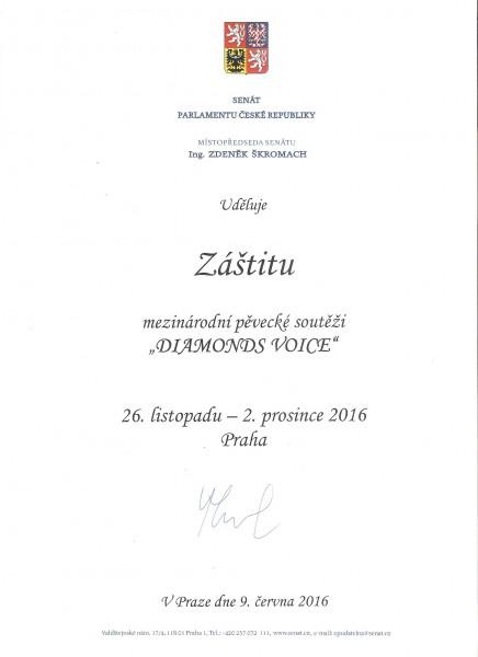 záštita Senátu ČR- D.V.2016