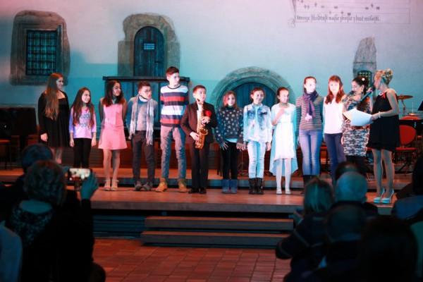 nastoupení dětských finalistů