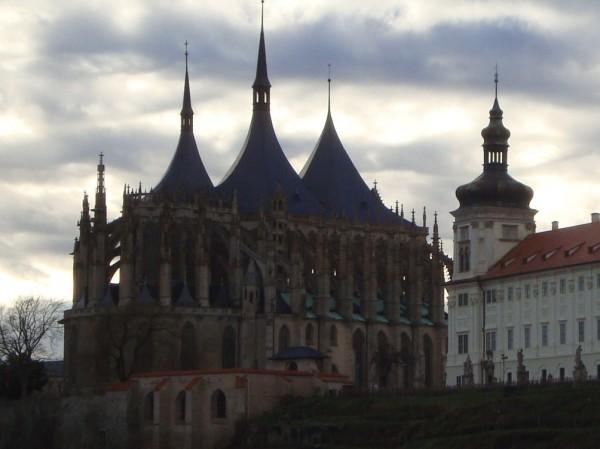 sv. Barbora z boku